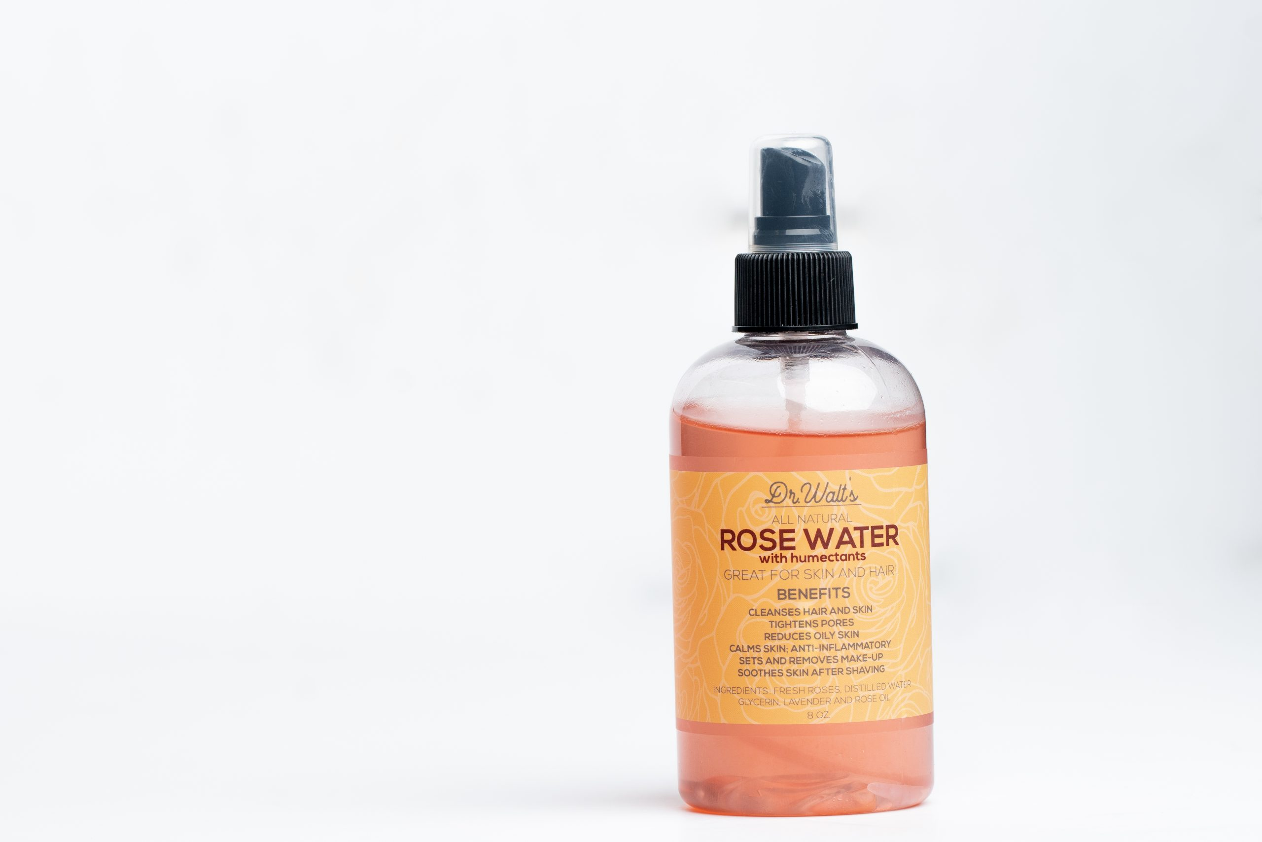 Rose Water with Moisture – 8oz.